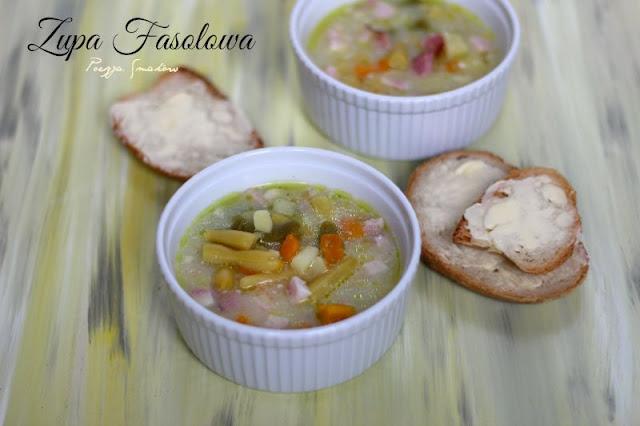 Zupa fasolowa - z fasolką szparagową. Pyszna jarzynowa.