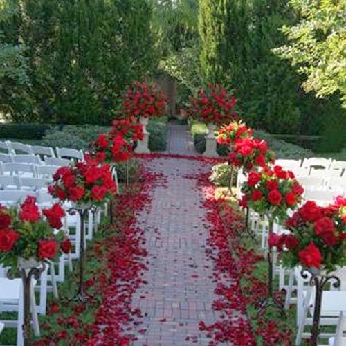 Wedding decoration rose pic for Red wedding flower ideas