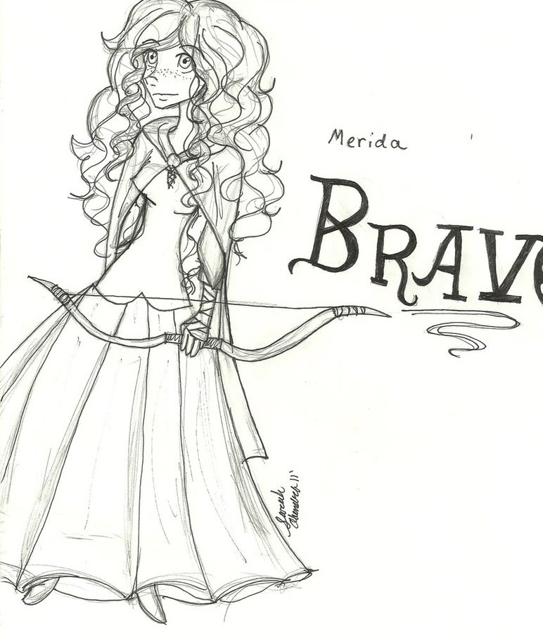 2 Free Disney Characters Brave Coloring Pages For Kids