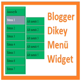 Blogger Dikey Menü Widget