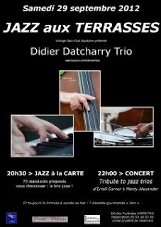 pau Samedi 29 septembre 2012   soirée Jazz aux Terrasses
