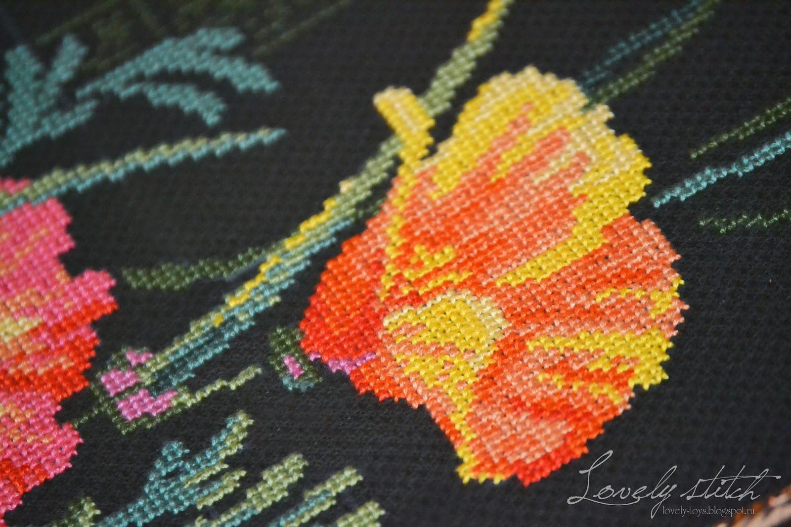 Схема вышивки калифорнийский мак риолис 55