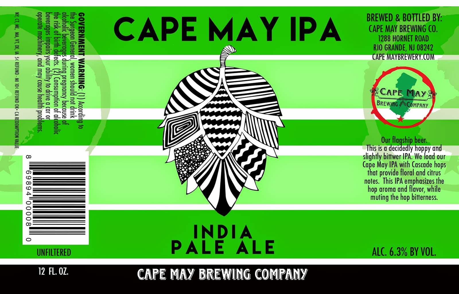 Cape May Brewing, IPA, New Jersey, Craft Beer