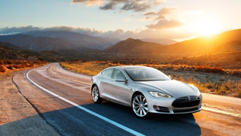 Tesla on the road (Credit: tesla) Click to enlarge.