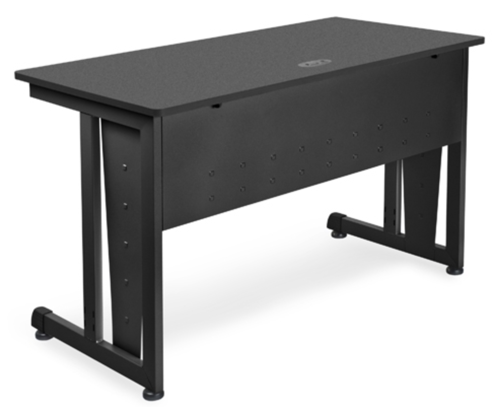 OFM Black Metal Computer Desk