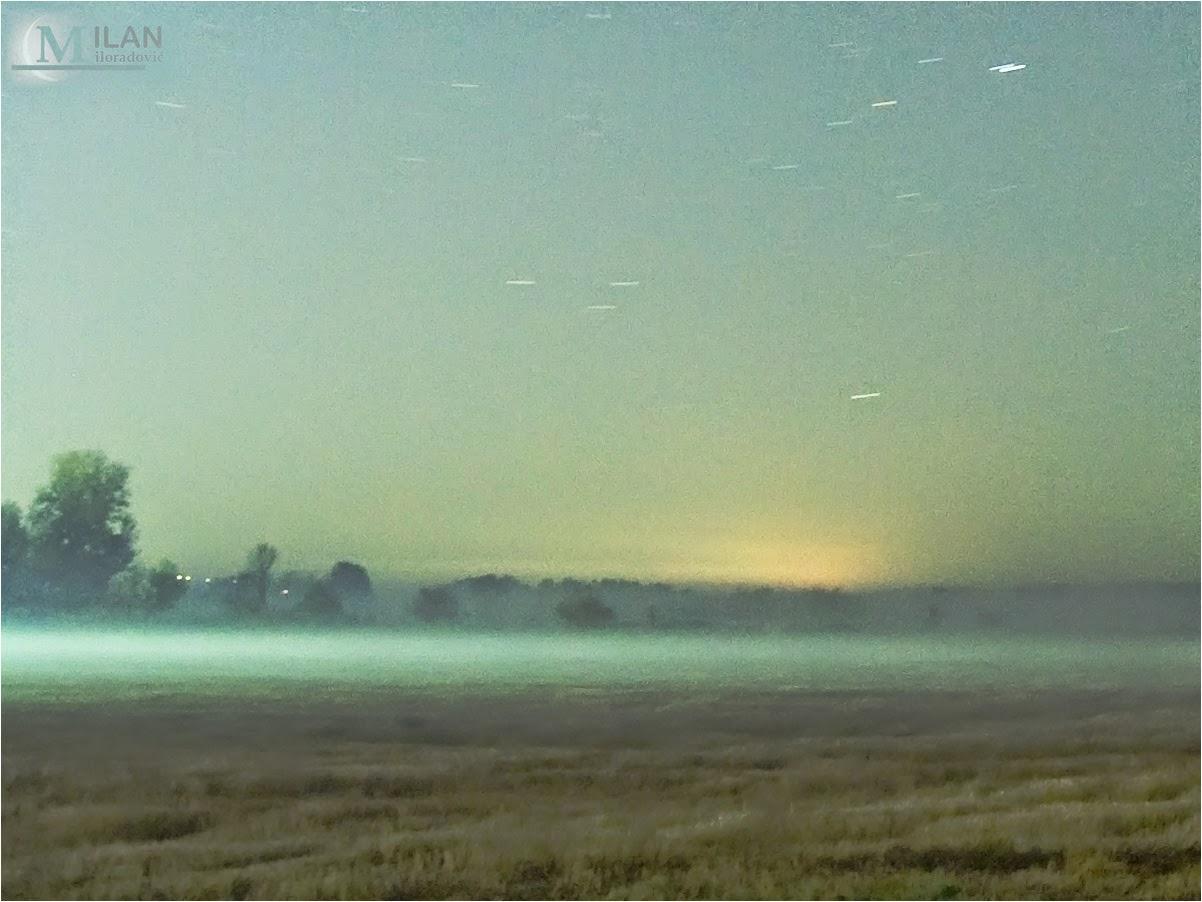 fog and plain