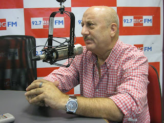 Anupam Kher at  92.7 BIG FM Studio