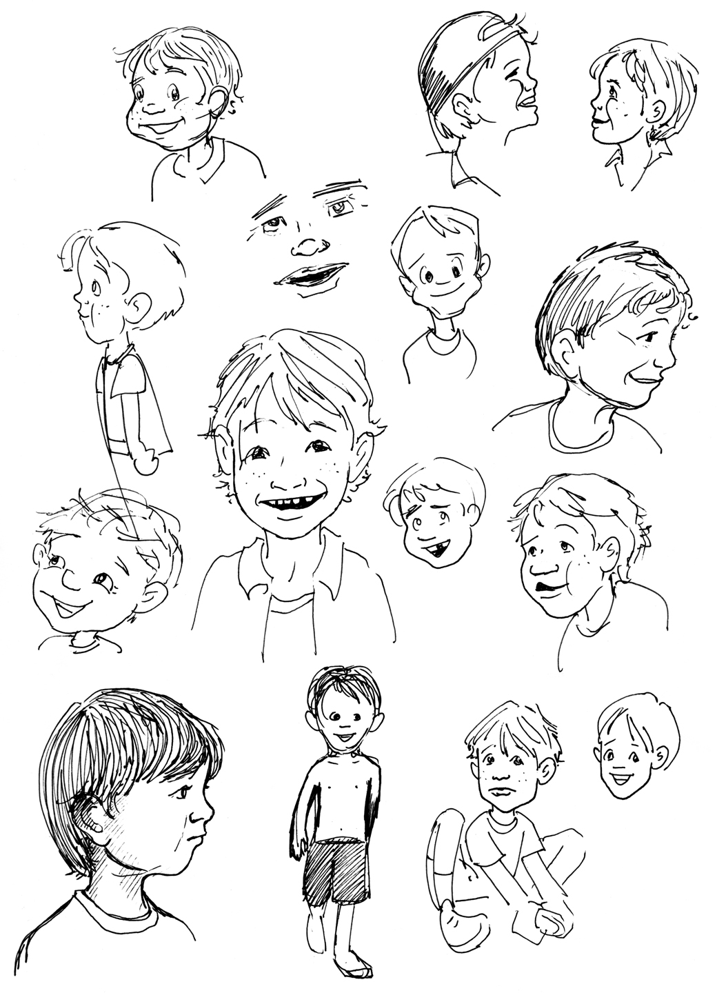 Little Guys Annie Ink - Hairstyle boy drawing