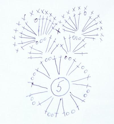 Схема вязания бабочки на шапку крючком