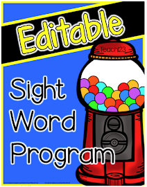 Editable Sight Words: Fry & Dolch