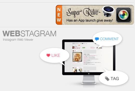 Cara menggunakan Instagram Dari laptop atau PC di Webstagram Homepage