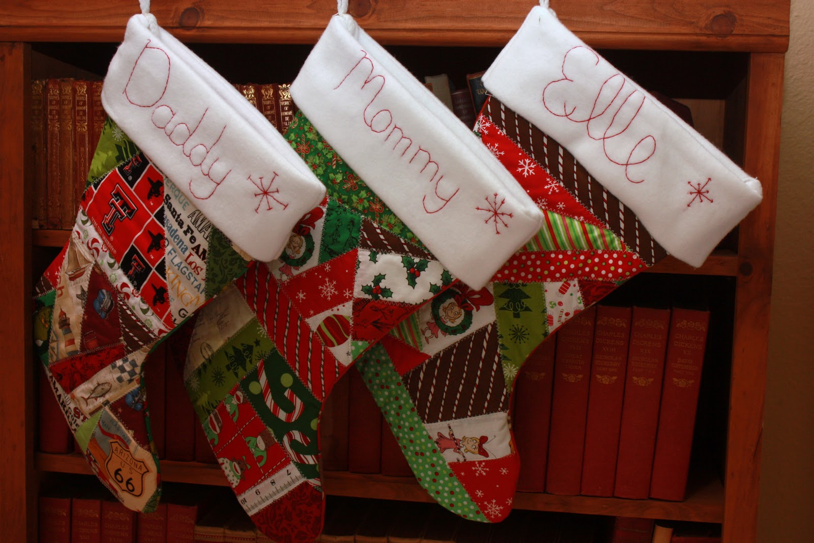 Homemade Quilted Christmas Stockings Love Laughter And