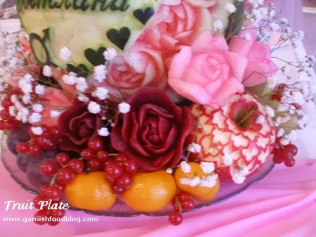 beautiful flowers carved of vegetable for wedding bouquet