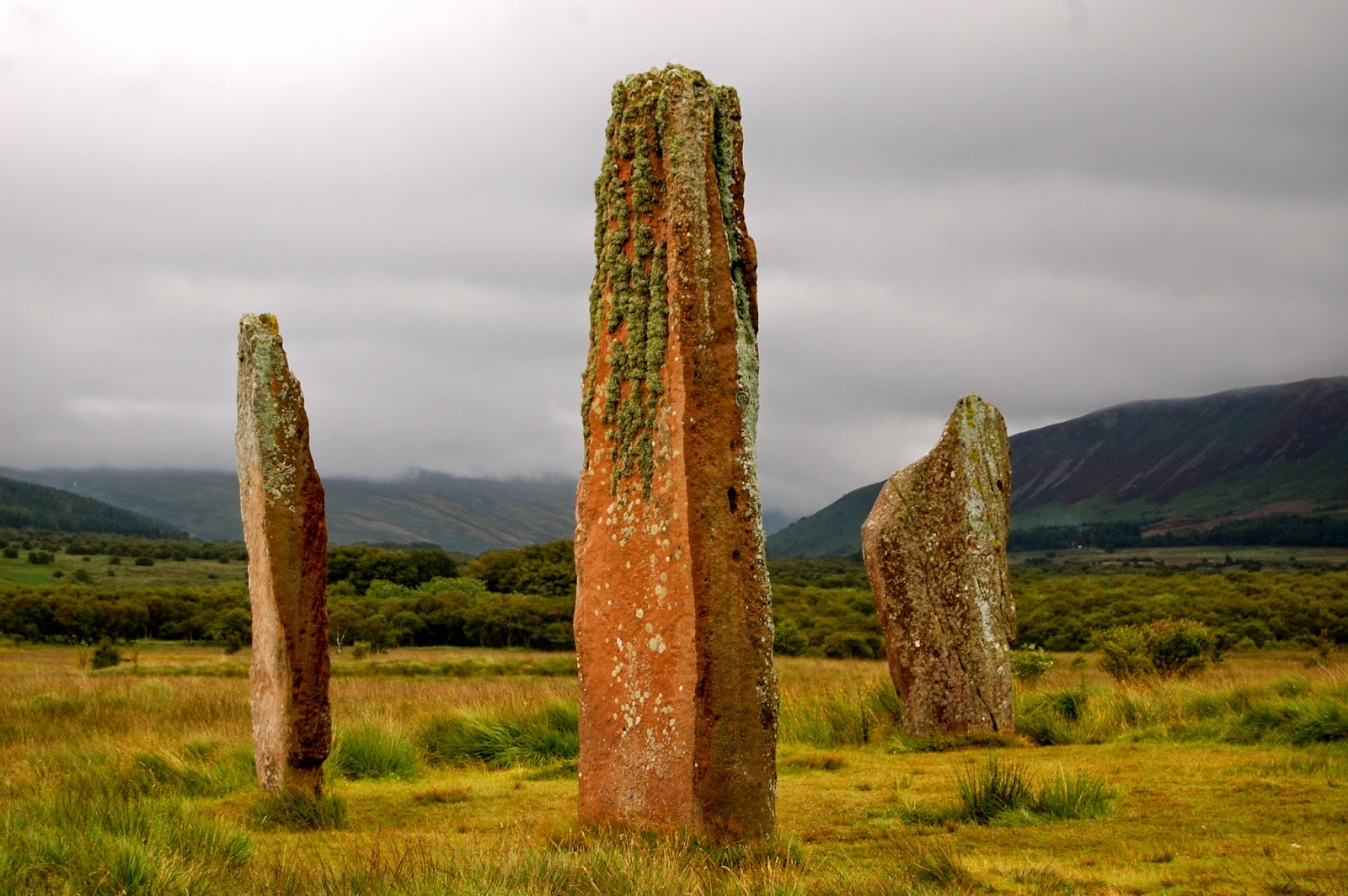 Three standing stones at Machrie Moor