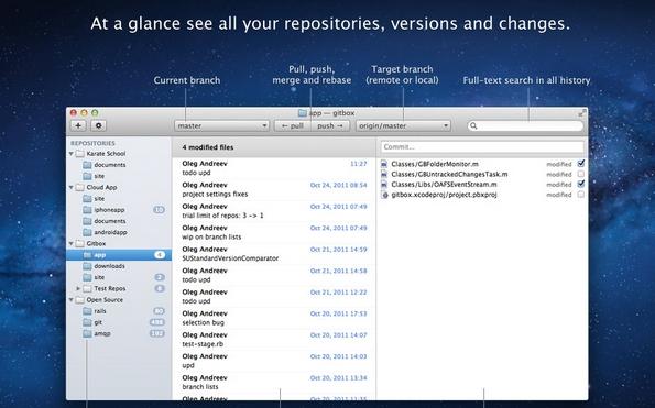 Gitbox Git client for Mac OS X