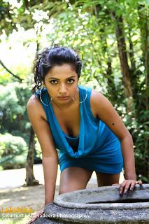 Lakshika Jayawardhana blue boobs