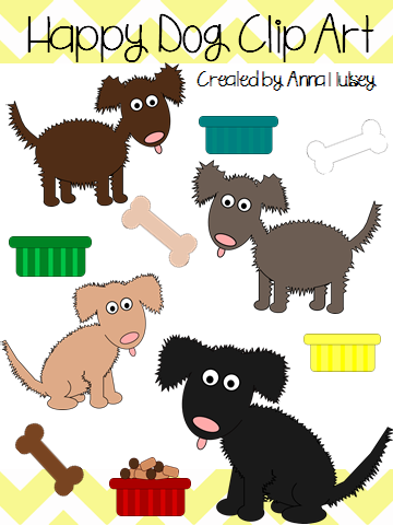 http://www.teacherspayteachers.com/Product/Happy-Dog-Clip-Art-Graphics-for-Commercial-Use-1140518