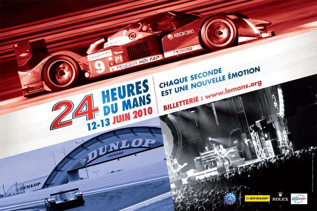 Affiche officielle des 24 Heures du Mans 2010