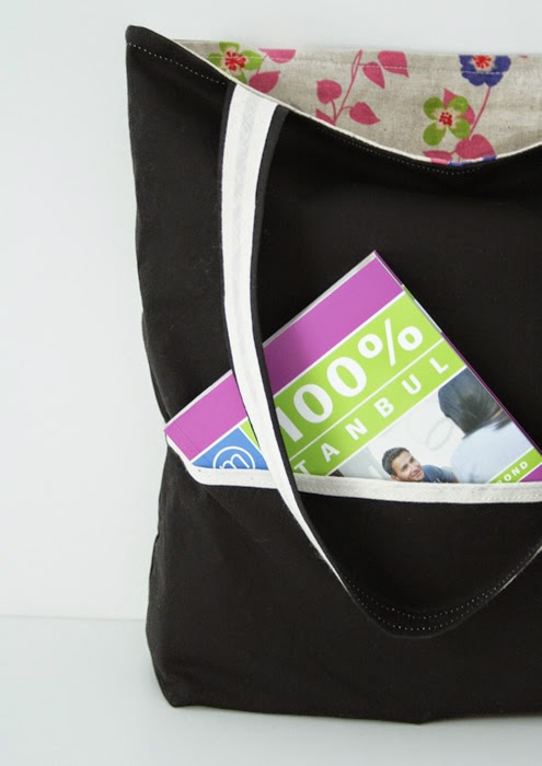 Reversible tote bag sewing pattern