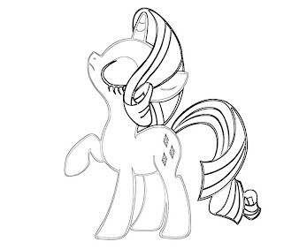 #7 Rarity Coloring Page