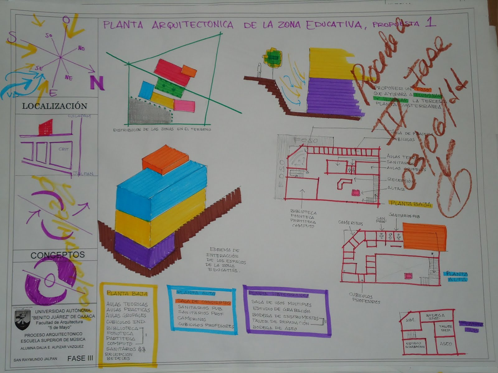Proceso de dise o escuela superior de musica fase 3 for Planta arquitectonica biblioteca