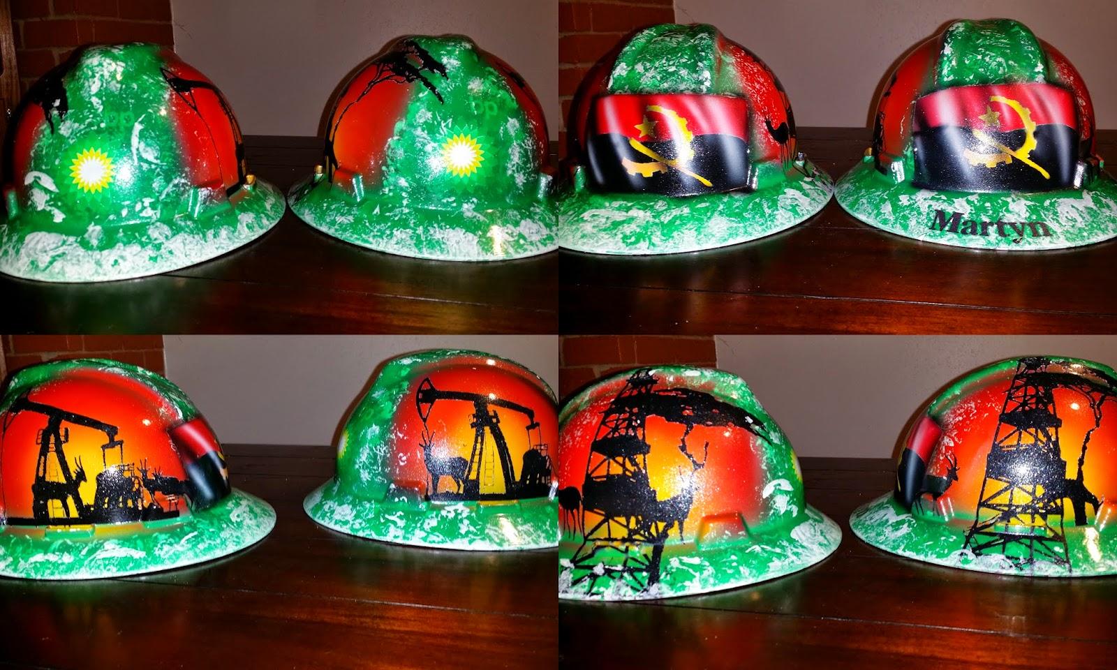 BP Angola custom hard hat