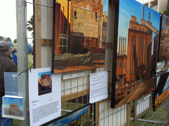Exhibition of paintings of Pyrmont by Jane Bennett at the 2012 Pyrmont Festival