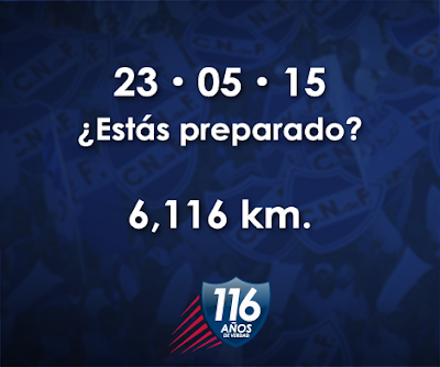 6.116 mts del Club Nacional de Fútbol (23/may/2015)