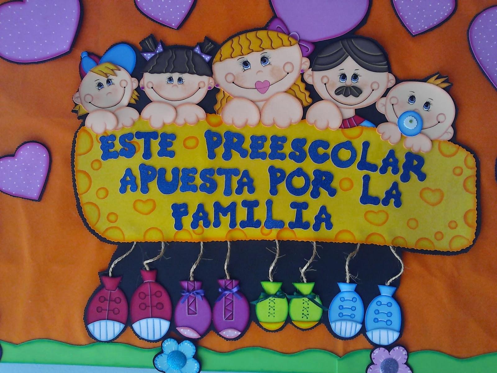Efemerides de preescolar en foamy mis tablas for Mural una familia chicana