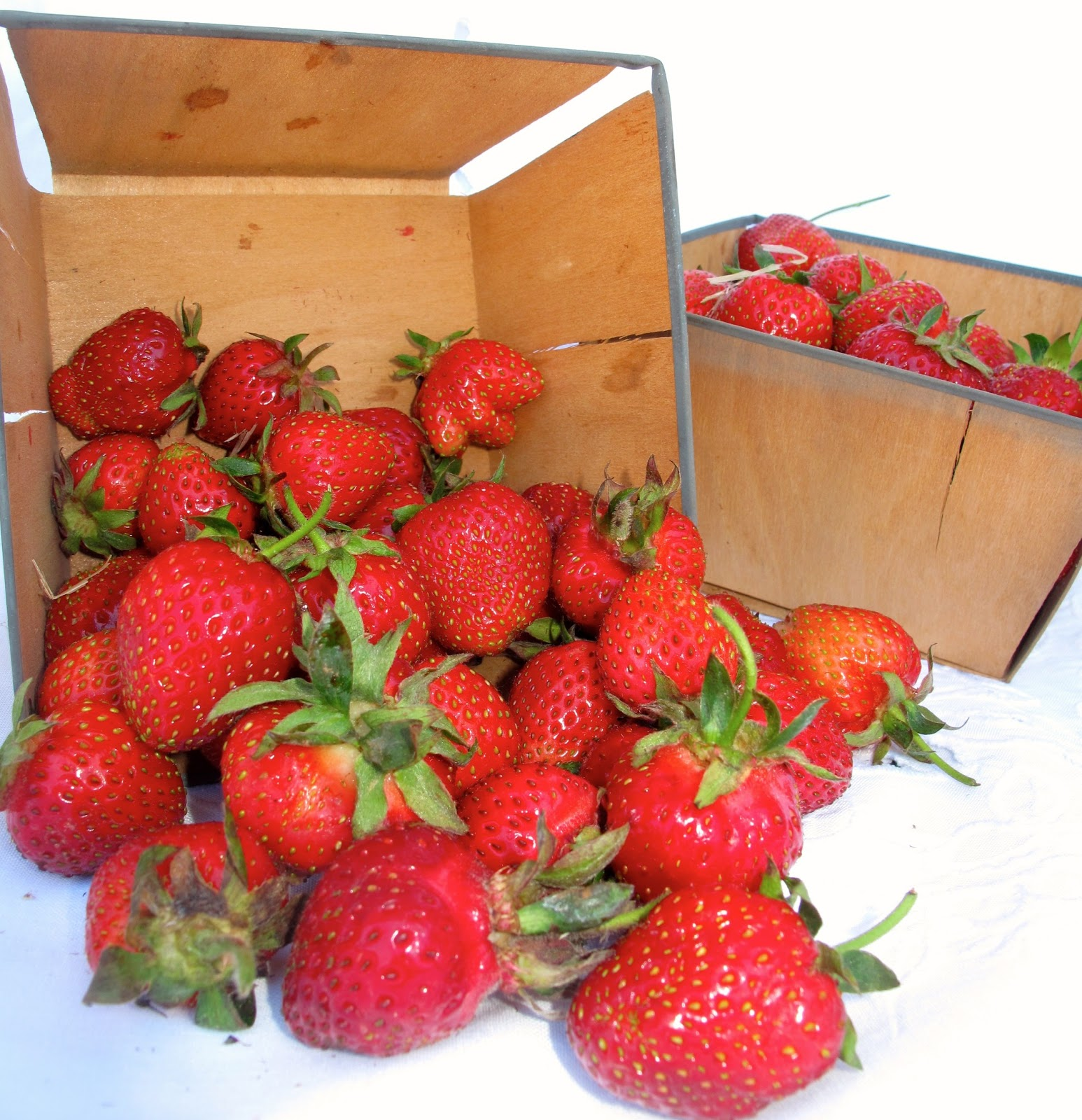 Cheerful Thrifty Door: Steel Rimmed Strawberry Baskets and ...
