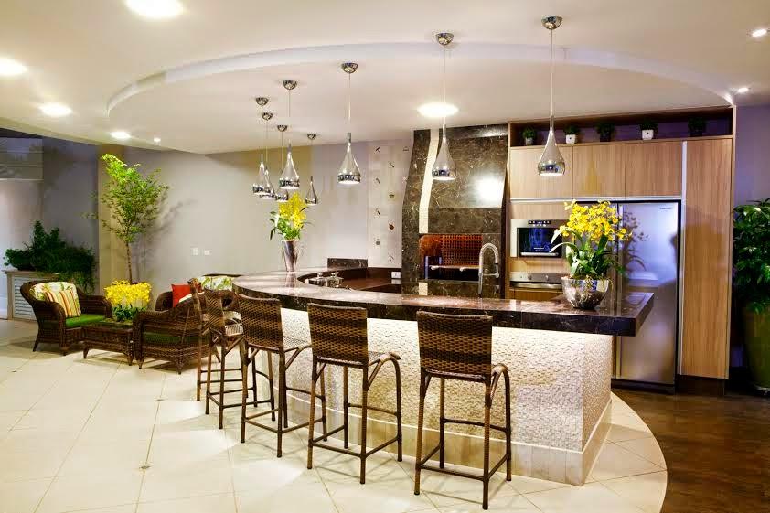 pedras jardim campinas:Construindo Minha Casa Clean: Decoração Moderna com Varanda Gourmet