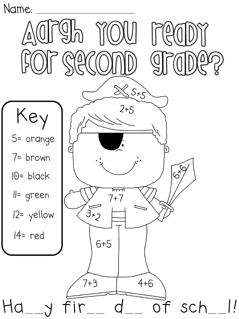 ... have added something for first grade and second grade, as requested
