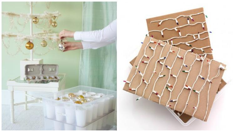 Ideas de almacenaje para los adornos de Navidad / almacenar la Navidad by Habitan2
