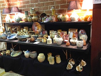 Lori Buff's ceramics at Fired Works in Macon, GA