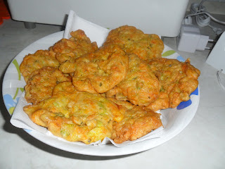courgette fritters ready