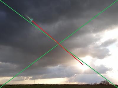 reflejo en la óptica de la cámara