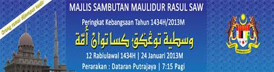 Tema Sambutan Maulidur Rasul 1434 / 2013