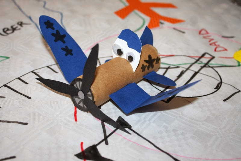 disneys skipper cardboard plane