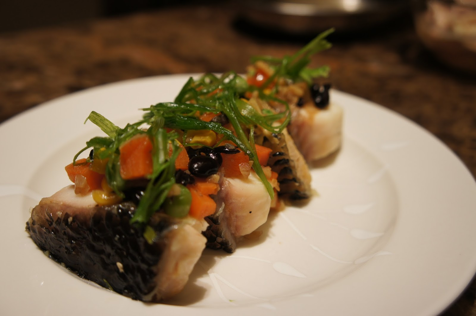 Say my kitchen steam fish canap with chinese black beans for Canape kitchen