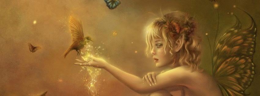 Une jolie couverture facebook elfe