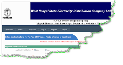WBSEDCL ITI Trainee Recruitment 2012 Online Form