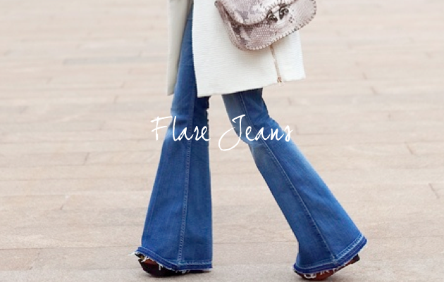 Flared jeans back in style