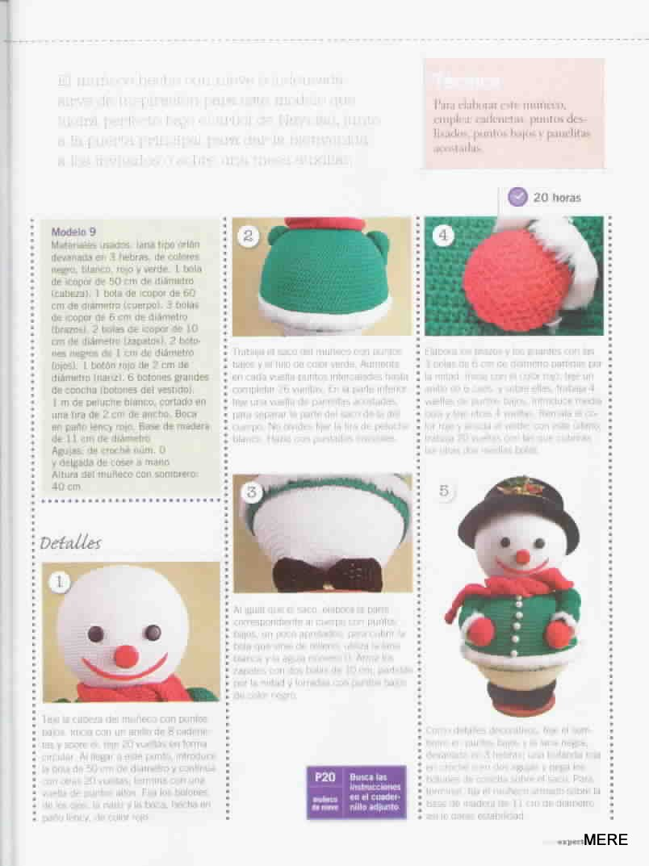 Esquemas y patrones: muñeco de nieve a crochet / crochet snowman