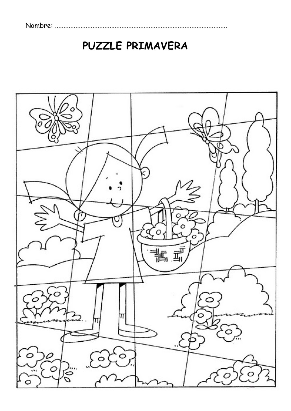Lujoso Imprimibles Para Colorear De Primavera Ornamento - Dibujos ...