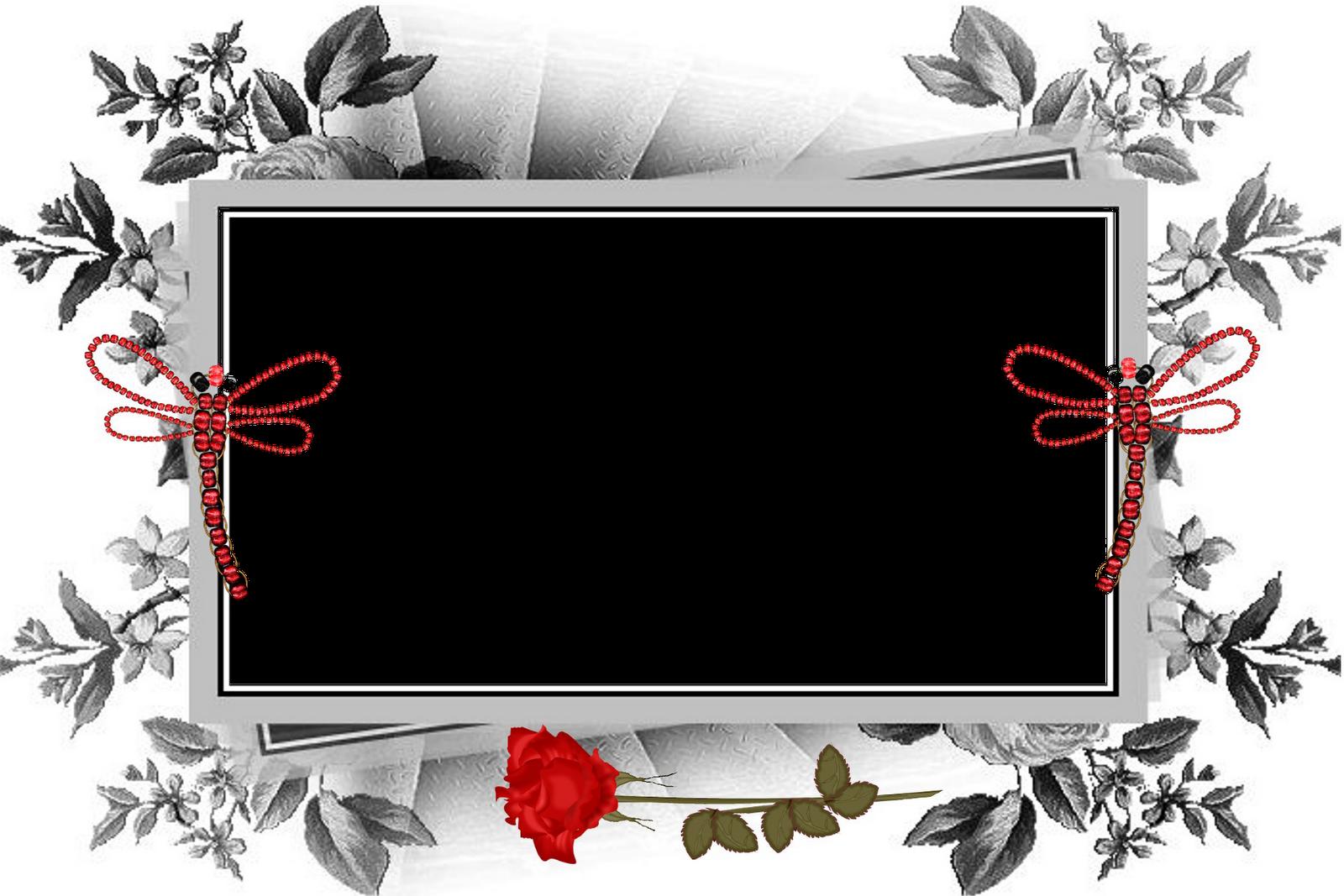 Montagem moldura de flores com borboletas online gratis  - Molduras Para Fotos Com Flores E Borboletas