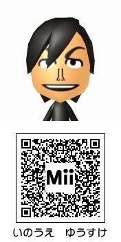 井上裕介(NON STYLE)のMii QRコード トモダチコレクション新生活