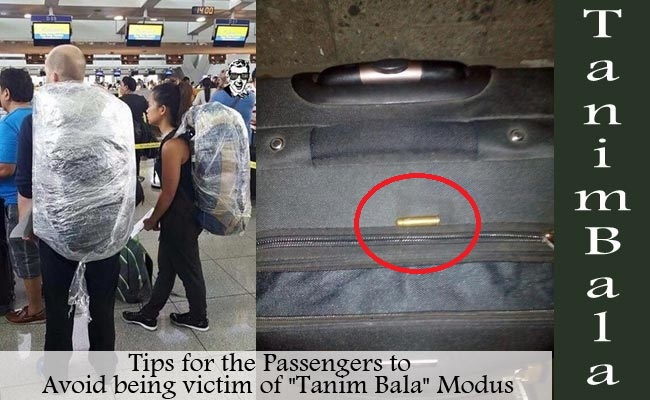 "Tips for the Passengers to Avoid being victim of ""Tanim Bala"" Modus"