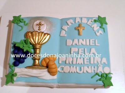 bolos decorados  primeira comunhão