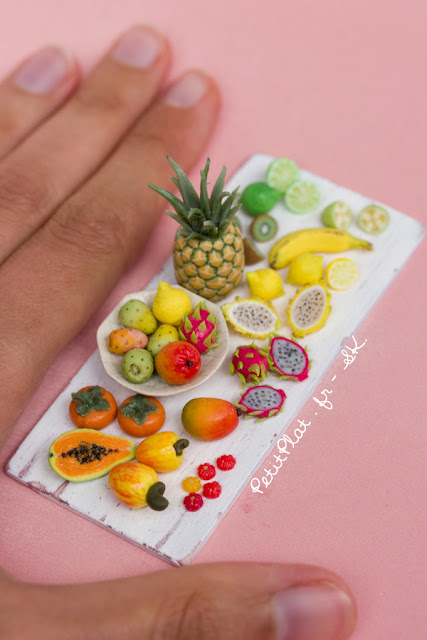 Exotic Fruit Miniature Sculpture by Stephanie Kilgast