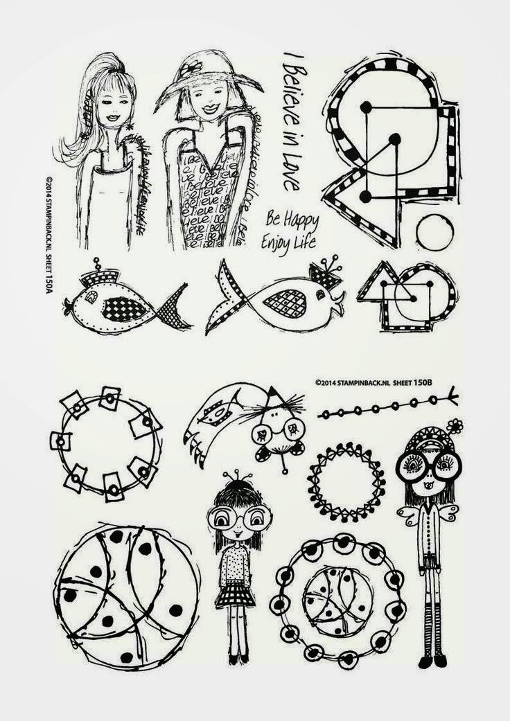 Stampinback.nl stamps Kit 150 - Designed by Alie Hoogenboezem-de Vries 2014